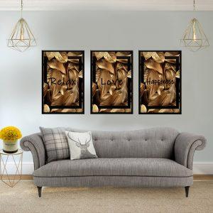 סט תמונות - העלים יוקרתיים פשוט להירגע מעוצב לסלון ולמטבח לעיצוב הבית
