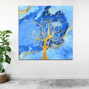 תמונת אומנות - עץ הים לסלון לעיצוב הבית