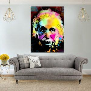 תמונת קנבס פופ ארט איינשטיין לסלון לעיצוב הבית