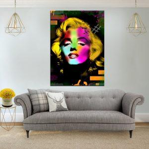 תמונת קנבס פופ ארט מרלין מונרו לסלון לעיצוב הבית