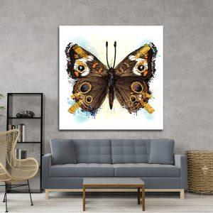 תמונת אומנות - פרפר המזל לסלון לעיצוב הבית