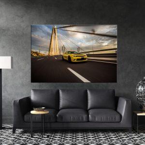 תמונת קנבס שברולט קמארו בספיד לסלון לעיצוב הבית