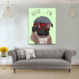 תמונת קנבס - שלום אני ילד טוב לסלון לעיצוב הבית