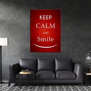 תמונת קנבס תירגע ותחייך לסלון לעיצוב הבית