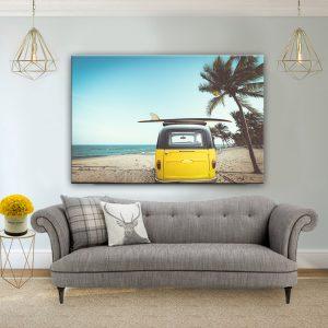 תמונת קנבס בדרך לגלוש לחופש לסלון לעיצוב הבית