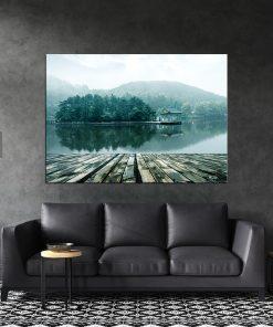 תמונת קנבס האגם האלפיני לסלון לעיצוב הבית