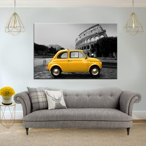 תמונת קנבס הקלסיקה הצהובה ברומא לסלון לעיצוב הבית