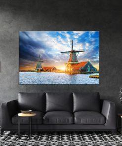 תמונת קנבס זריחה הולנדית לסלון לעיצוב הבית