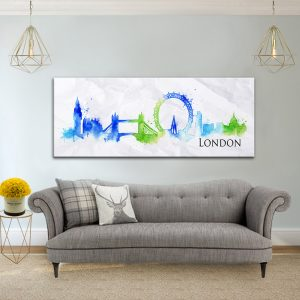 תמונת קנבס לונדון בציור המים לסלון לעיצוב הבית