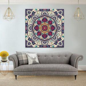 תמונת קנבס מנדלה אותנתית לסלון לעיצוב הבית