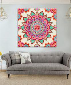תמונת קנבס מנדלה הודית אותנתית לסלון לעיצוב הבית