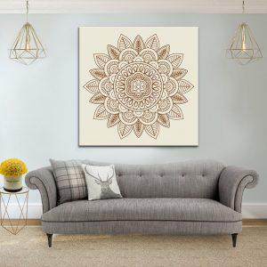 תמונת קנבס מנדלה רוחנית לסלון לעיצוב הבית