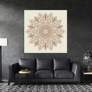 תמונת קנבס מנדלה וינטג' לסלון לעיצוב הבית