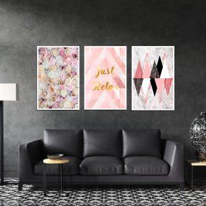 סט תמונות - פשוט להירגע מעוצב לסלון ולמטבח לעיצוב הבית