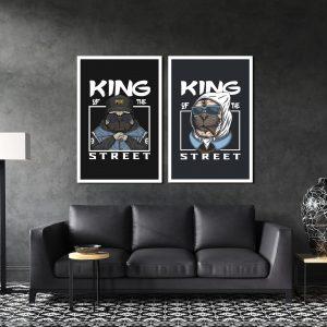 סט תמונות - מלך הרחוב מעוצב לסלון ולמטבח לעיצוב הבית