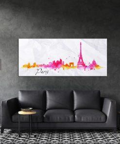 תמונת קנבס פריז בציור המים לסלון לעיצוב הבית