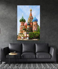 תמונת קנבס קתדרלת ואסילי הצבעונית לסלון לעיצוב הבית