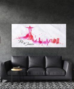 תמונת קנבס ריו דה ז'נרו בציור המים לסלון לעיצוב הבית