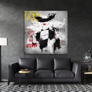 תמונת קנבס אבסטרקט אופנתי לסלון לעיצוב הבית