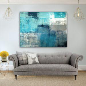 תמונת קנבס אבסטרקט מצולות הים לסלון לעיצוב הבית