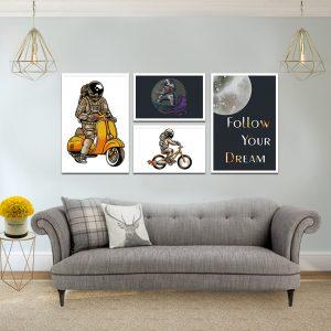 תמונת אסטרונאוט סטייל לסלון לעיצוב הבית