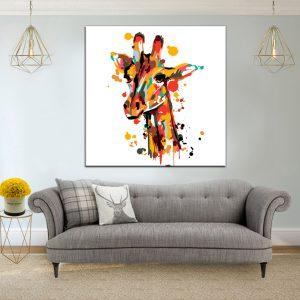 תמונת קנבס ג'ירפה סטייל לסלון לעיצוב הבית