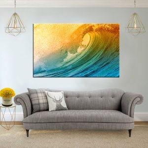 תמונת קנבס גל אקזוטי לסלון לעיצוב הבית
