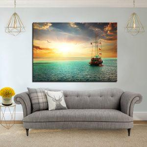 תמונת קנבס הפלגת העולם לסלון לעיצוב הבית