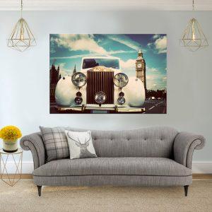 תמונת קנבס הקלאסיקה הלבנה בלונדון לסלון לעיצוב הבית