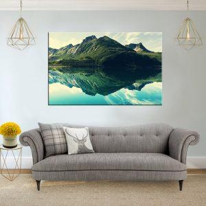 תמונת קנבס הר אגם לסלון לעיצוב הבית