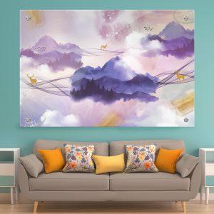 תמונת זכוכית - עולם האיילים לעיצוב הבית על קיר בסלון