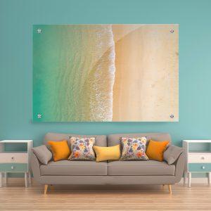 תמונת זכוכית - ים יבשה לעיצוב הבית על קיר בסלון