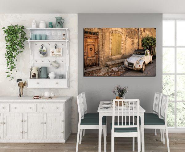 תמונת קנבס מכונית צרפתית קלאסית לסלון לעיצוב הבית
