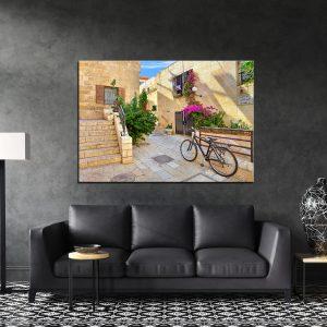 תמונת קנבס רחוב התמיד לסלון לעיצוב הבית