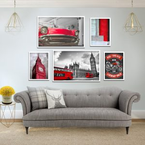 תמונות עולם אדום לסלון לעיצוב הבית