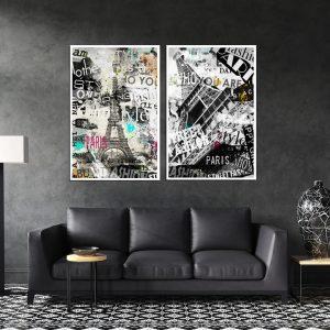 תמונת פריז סטייל לסלון לעיצוב הבית