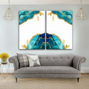 תמונת קנבס אקווה לסלון לעיצוב הבית