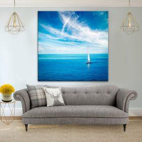 תמונת קנבס המפרשית הלבנה לסלון לעיצוב הבית