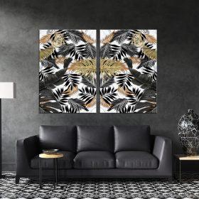 תמונת קנבס עלים אופנתיים לסלון לעיצוב הבית