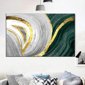 תמונת קנבס אבסטרקט השפע לסלון לעיצוב הבית