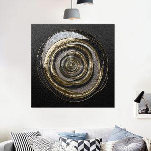 תמונת קנבס גזע מתכתי לסלון לעיצוב הבית