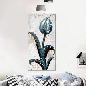 תמונת קנבס הפרח הסגור לסלון לעיצוב הבית