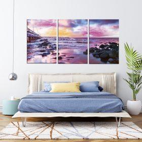 תמונות קנבס חוף הסגול לסלון לעיצוב הבית, לחדרי שינה או למטבח