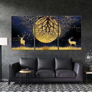 תמונות קנבס חצות מתחת לעץ לסלון לעיצוב הבית, לחדרי שינה או למטבח