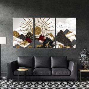 תמונות קנבס מפגש החיות לסלון לעיצוב הבית, לחדרי שינה או למטבח