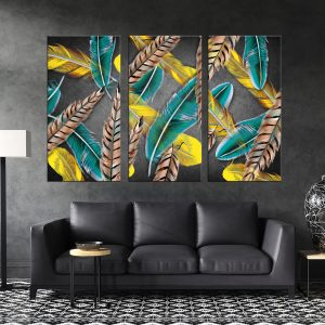 תמונת קנבס נוצות באוויר לסלון לעיצוב הבית