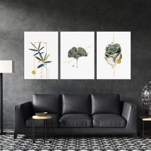 תמונת קנבס צמחים מינימליסטים לסלון לעיצוב הבית