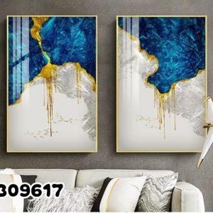 תמונת קנבס הכחול רויאל מופשט לסלון לעיצוב הבית