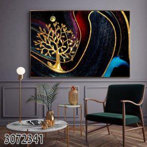 תמונת קנבס עץ חלל לסלון לעיצוב הבית