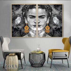 תמונת קנבס פרידה קאלו לסלון לעיצוב הבית